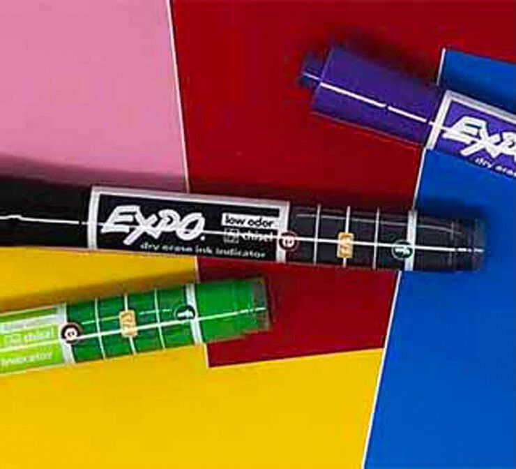 Expo markers with ink level indicator