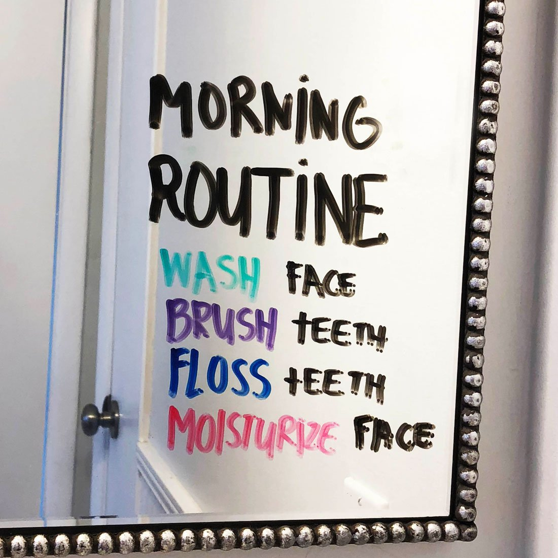 Morning Mirror Lists with EXPO Markers