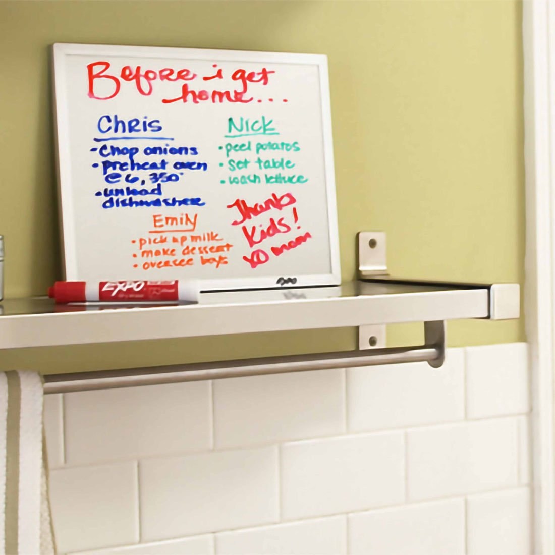 Kitchen Lists With EXPO Markers